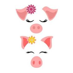 Cute Flower Pig SVG Cuttable Design