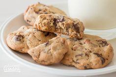 Pretzel Chocolate Chip Cookies – Alice in Bakingland Salted Pretzel, Cookies Ingredients, Nut Free, Tray Bakes, Chocolate Chip Cookies, Sweet Treats, Chips, Sweets, Baking