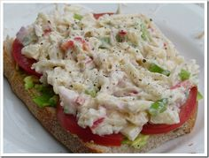 vegan crab salad??? guess what the secret ingredient is?  Might be worth a try
