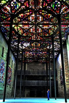 National Gallery of Victoria, Melbourne - I love stained glass when it is good!