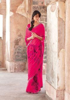 Pretty in pink. saree sari pink south asian indian desi fashion.