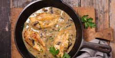 Funky Mushroom Sauce Recipes Chicken With Creamy Mushroom Sauce Recipe within [keyword Crockpot Rice Recipes, Sauce Recipes, Cooking Recipes, High Protein Chicken Recipes, Creamy Mushroom Sauce, Dump Meals, Healthy Weeknight Dinners, Stuffed Mushrooms, Stuffed Peppers