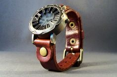 Leather Watches-Women Watches-Men's Watch-Men's Watch Leather-Men's Gift-Boho Watch-Cuff Watch-Bracelet Watch-Gifts-Men Wrist Watch by Treasuregiftsandmore on Etsy https://www.etsy.com/listing/243565712/leather-watches-women-watches-mens-watch