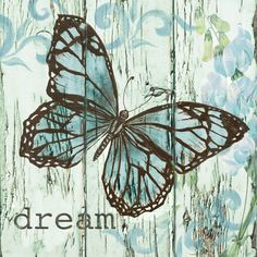 Printables - Dream and blue butterfly Butterfly Images, Vintage Butterfly, Blue Butterfly, Butterfly Quotes, Vintage Diy, Vintage Paper, Vintage Images, Scrapbooking, Scrapbook Paper