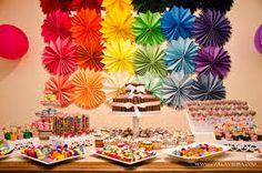 Resultado de imagem para festa colorida decoração