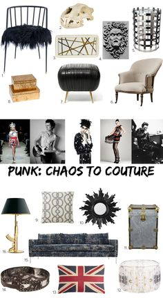 Style Meets Home: Punk - From Chaos to Couture - sohautestyle.com