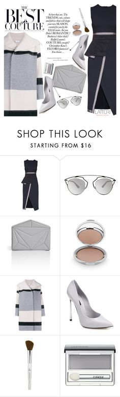 """""""Lattori dress:Be elegant"""" by pokadoll ❤ liked on Polyvore featuring Lattori, Christian Dior, Vionnet, Chantecaille, Vince, Casadei, Clinique, women's clothing, women's fashion and women"""