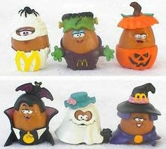Vintage McDonald's Happy Meal Toys, ALL Halloween McNugget Buddies, Chicken Mcnuggets, circa 6 in Lot, Food Toys Back In The 90s, Back In My Day, Tennessee Williams, 90s Childhood, Childhood Memories, School Memories, Gi Joe, Mcdonalds Toys, 90s Kids
