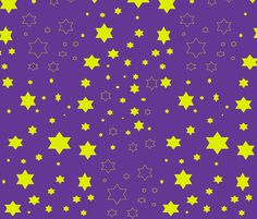 seeing stars fabric by shy_bunny on Spoonflower - custom fabric