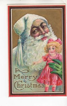 Another  Santa Claus with a strange expression.