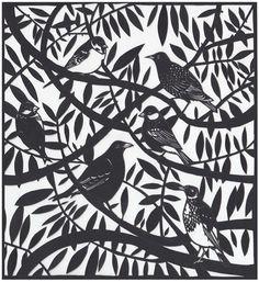 Silhouettes, patterns and paper cuts Paper Cutting, Cut Paper, Diy And Crafts, Paper Crafts, Paper Cut Design, Garden Birds, Broken Wings, Bird Design, Bird Art