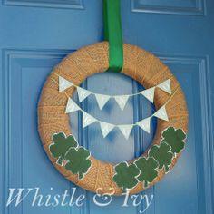 Erin Go Braugh {Ireland Forever} Wreath #stpatricksday #wreath #silhouette @Oriental Trading Company
