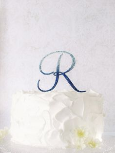 Items similar to Monogram Wedding Cake Topper - Glitter Cake Topper - Blue Ombre Wedding Cake Topper on Etsy Sapphire Blue Weddings, Cobalt Blue Weddings, Blue Sapphire, Monogram Cake Toppers, Wedding Cake Toppers, Wedding Cakes, Royal Blue Bridesmaid Dresses, Wedding Dresses, Thing 1