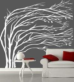 Free Shipping Huge tree Adhesive Vinyl Removable Wall Stickers ...