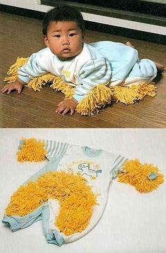 crazy japanese inventions -  baby mop.  Gotta check out the book 101 useless japanese inventions. DOH!