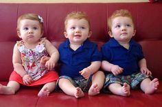 First Year with Triplets. Lists/links of items used and videos. Cute Baby Twins, Cute Little Baby, Little Babies, 3rd Baby, Mom And Baby, Baby Kids, Twin Boys, Twin Babies, Baby Pictures