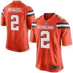 Men Cleveland Browns 2 Johnny Manziel Orange Elite Jersey