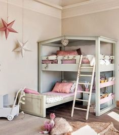 The typical children's space is also growing and changing to accommodate more activities than just sleep. Designated spaces for homework, crafts, reading, and more adventurous play are all becoming part of many layouts. When buying furniture or designing a room, carefully planning the space to create different areas for each activity can help kids to utilize their room to the fullest. #kids #room #ideas #playroom #boys #girls #DIY #Ikea #Small #bedroom #unisex #kidsroomideasunisex
