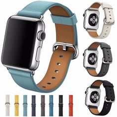 Genuine Leather Band For Apple Watch Strap Bracelet Series 1 2 iWatch Apple Watch Serie 1, Apple Watch 38, Apple Watch Bands, Apple Watch Price, Apple Watch Accessories, Leather Watch Bands, Leather Buckle, Soft Leather, Classic Leather