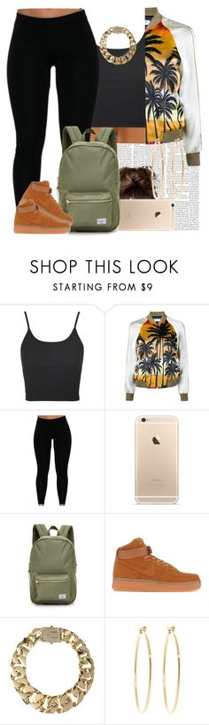 """""""It's been a long time """" by livelifefreelyy ❤ liked on Polyvore featuring Topshop, Yves Saint Laurent, Herschel Supply Co., NIKE, AllSaints and Brooks Brothers"""