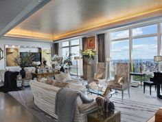Post Renovation, 78th floor #penthouse in the #TimeWarner Center hit the market for a whooping $75 million #NYC