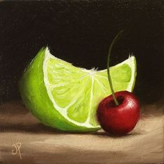 Buy Lime cherry, Oil painting by Jane Palmer on Artfinder. Discover thousands of… Buy Lime cherry, Oil painting by Jane … Oil Painting For Beginners, Oil Painting Techniques, Painting Videos, Painting Lessons, Painting Tips, Fruit Painting, Oil Painting Abstract, Paintings Of Fruit, Painting Clouds