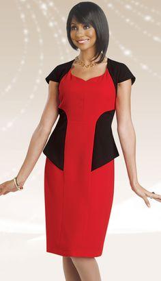 Chancelle Women's Dress 1104Fall 2014Red / BlackSizes 8-18$130.00