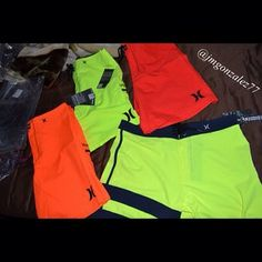 Just came in !! Almost time for Vegas !! ☀️✌️#vegas#bright#neon#Hurley#boardshorts#excited#fun#lasvegas#poolparties#summer#almost