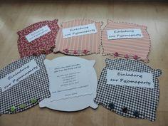 Katis kreative Ecke: Einladungen zur Übernachtungsparty