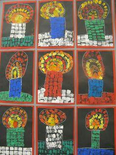 palikkapainantaa by jeannette Christmas Art Projects, Winter Art Projects, Christmas Crafts For Kids, Art Activities For Kids, Preschool Art, Christmas Activities, Kindergarten Art Projects, Classroom Art Projects, Crafts For Kids To Make