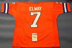 John Elway Autographed Denver Broncos Throwback O Jersey