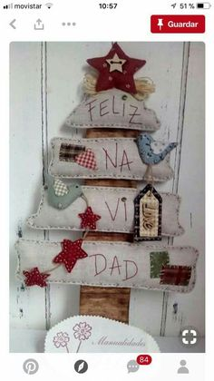 How to make original and creative Christmas trees to decorate your entire home . Christmas Makes, Noel Christmas, Primitive Christmas, Rustic Christmas, Handmade Christmas, Creative Christmas Trees, Christmas On A Budget, Christmas Projects, Christmas Crafts