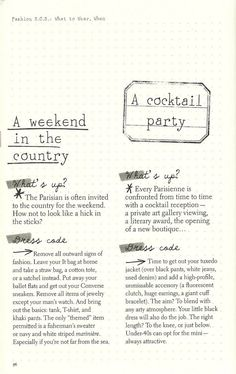 Parisian Chic: A Style Guide by Inès de la Fressange   A Weekend in the Country + A Cocktail Party
