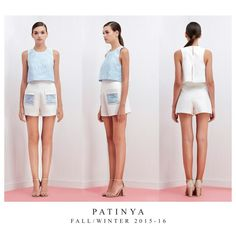 Incorporating beautiful laces and tailoring techniques to PATINYA RTW, FW2015-16 Collection. Look 17 : Manosque top Size: Freesize Color: Blue Fabric: Lace, Metallic silk  Terrasa shorts Size: S,M,L Color: White/Blue, White/Pink, White/White Fabric: Pique, Lace @patinya_official @guitarpatinya www.patinyabkk.com #patinya #patinyaofficial #patinyabkk #fashion #dress #dresses #THAIDESIGNERS #theoptimisticvibes