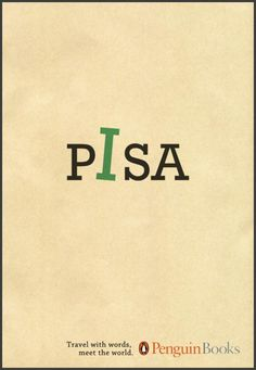 The Print Ad titled Travel with words, Pisa was done by Iesp advertising agency for brand: Penguin Books in Brazil. It was released in the Jan 2010.