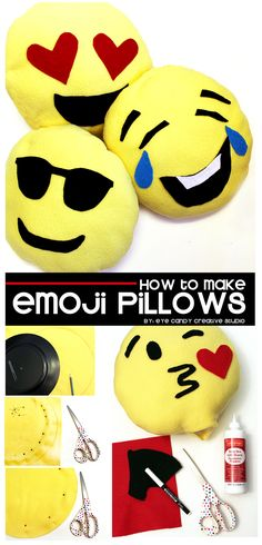 how to make emoji pillows @eyecandycreate #emojipillow #emojicraft #emojiparty