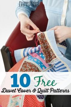 Check out these 10 free duvet cover & quilt patterns | FREE PATTERN