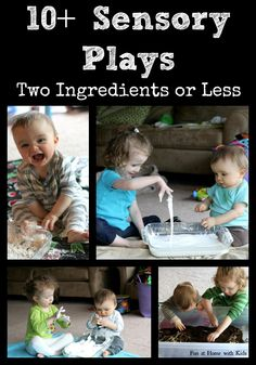 10+ Super Easy Sensory Plays   FUN AT HOME WITH KIDS
