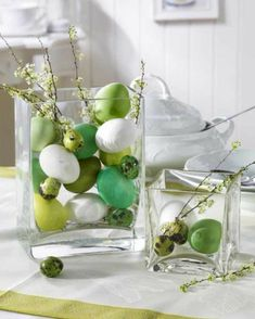 décoration table pour Pâques