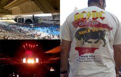 El antes y el después de Sergio de la Blanca en el concierto de ACDC.