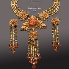 Vintage Stanley Hagler  Necklace and Earrings by AntiquingOnLine, $850.00  #vjse2 #vintage #jewelry #boebot2