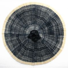 "Ann Hamilton, ""ciliary #3,"" 2010. Lithograph, fabric, bamboo and hardwood dowel construction. Approx. diameter: 58"" (147.3 cm). Variable edition of 19 unique works, published by Gemini G.E.L., Los Angeles and New York. ""ciliary"" © 2010 Ann Hamilton and Gemini G.E.L. LLC."