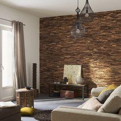 Parement bois on pinterest - Panneau brique decorative ...