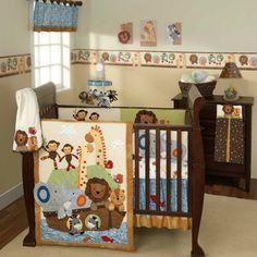Noah Ark with Animals Nursery to Go Baby Nursery Crib Bedding Set Baby Crib Bedding Sets, Crib Sets, Nursery Bedding, Nursery Room, Girl Nursery, Zoo Nursery, Sports Bedding, Cradle Bedding, Girl Bedding