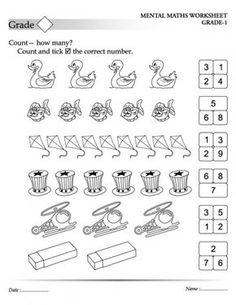 mental maths worksheets