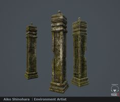 Ruin Pillar, Aiko Shinohara on ArtStation at https://www.artstation.com/artwork/ruin-pillar