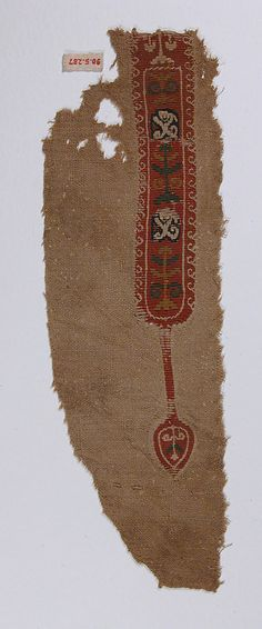 5th–6th century Egypt Wool, linen; plain weave, tapestry weave