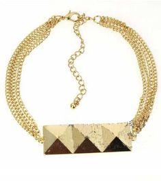 Wealthy Gold Three Squares Bracelet