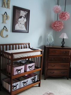 I love the changing table idea!
