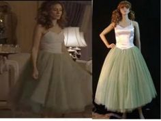Custom made Sex and the city Carrie seaform green tulle tutu $86.99